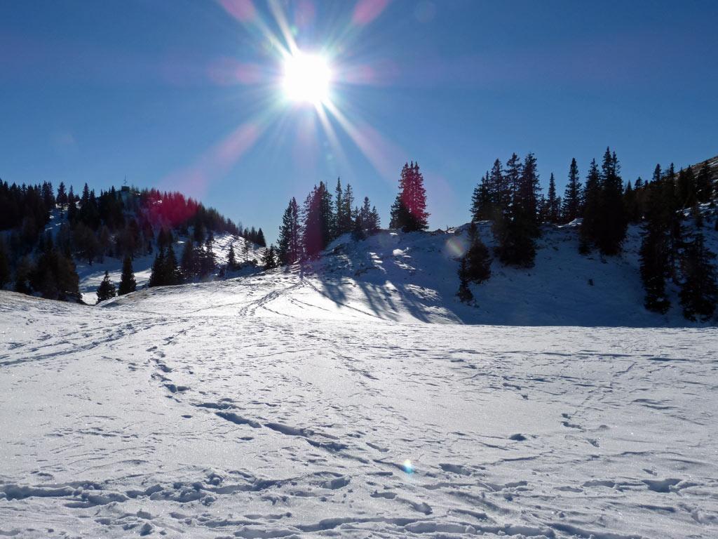 sonne blauer himmel schnee dobratsch