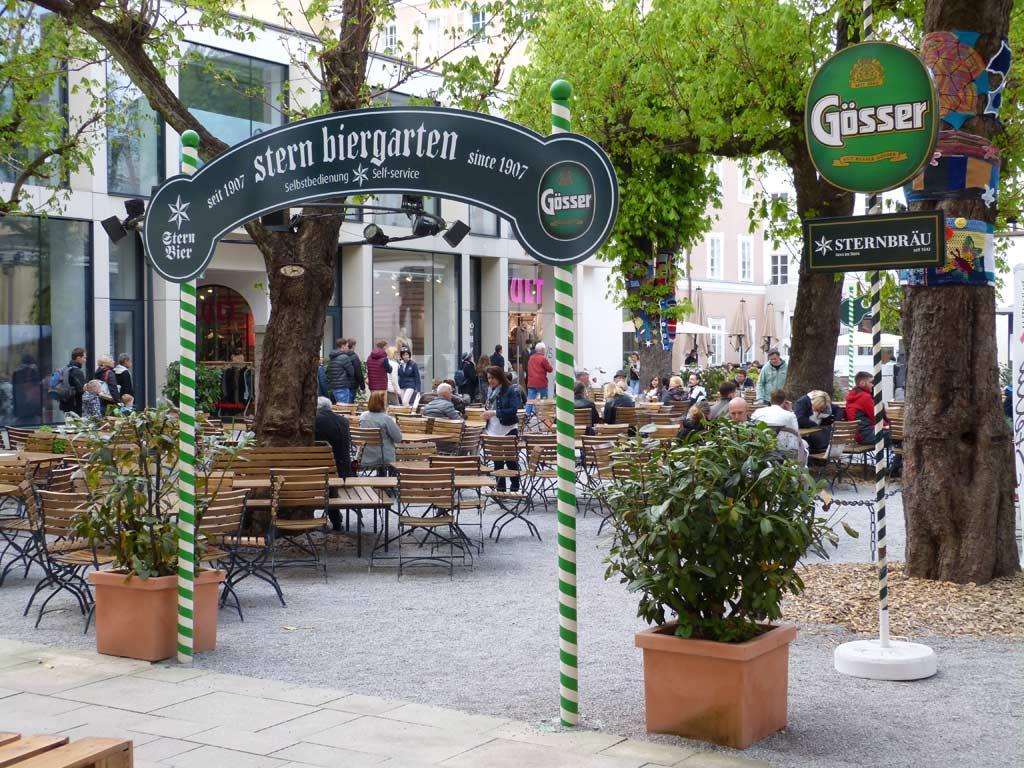 Biergarten Stein in Salzburg