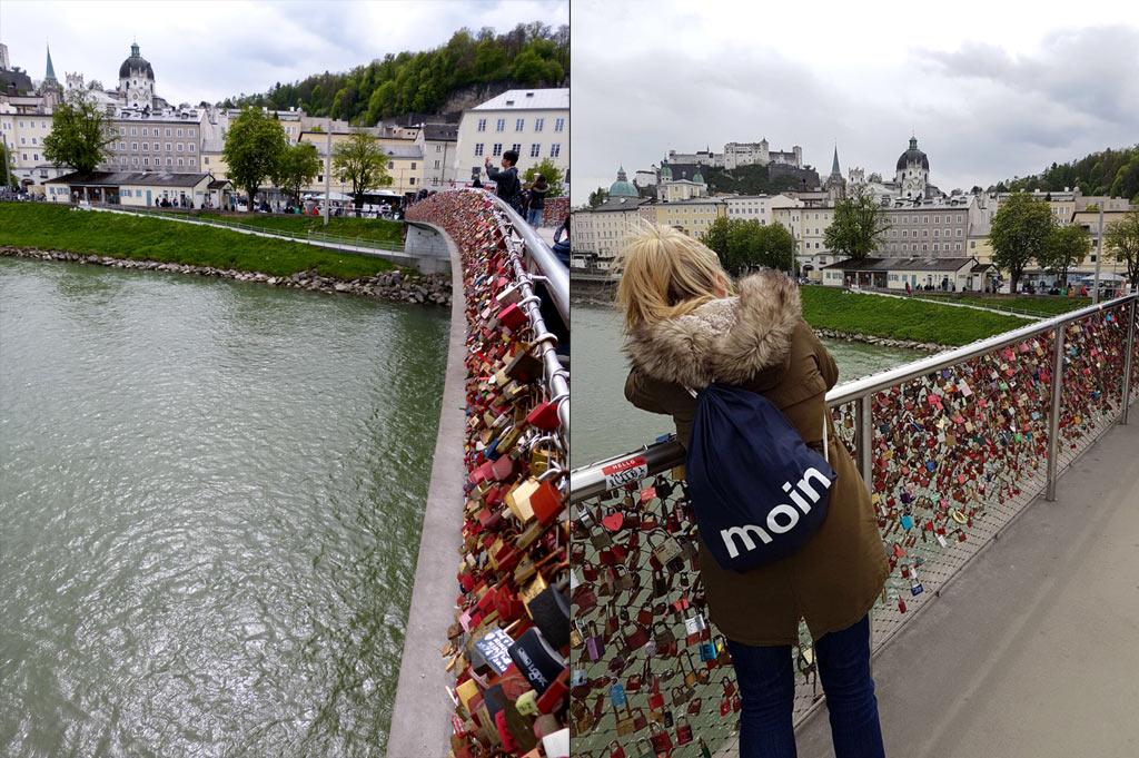 Brücke Liebesschlösser Salzburg