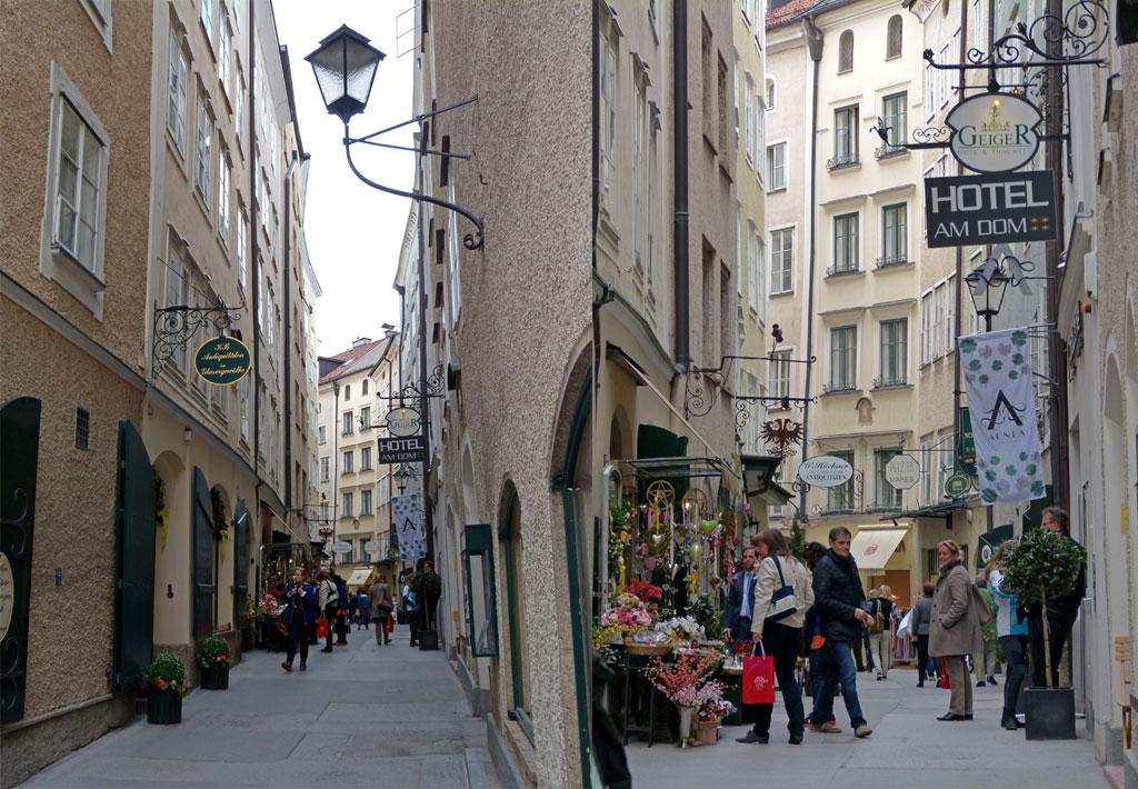 Enge Gassen in Salzburg