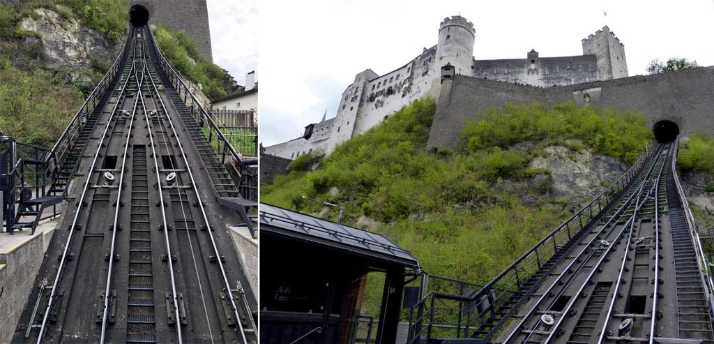 Gleise zur Festung Hohensalzburg