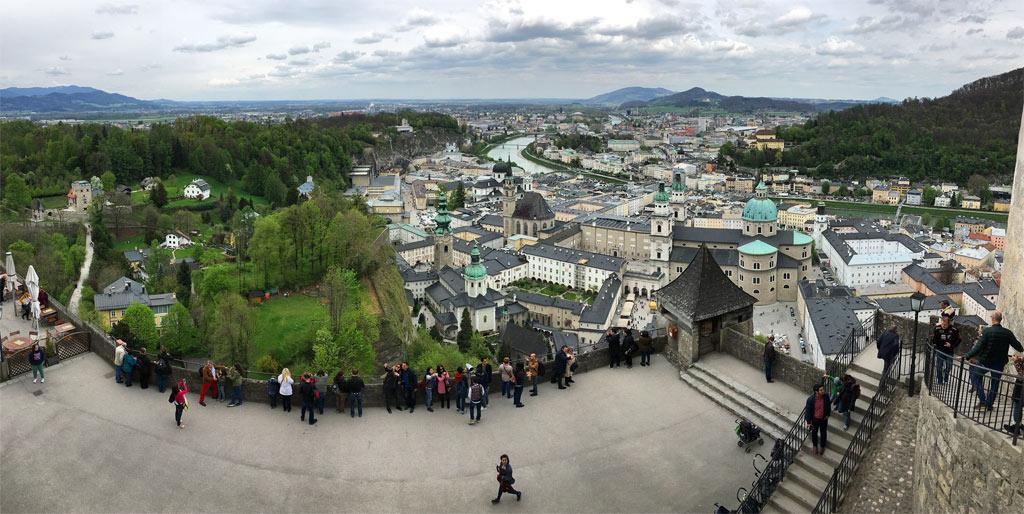 Ausblick Festung Hohensalzburg auf Innenstadt