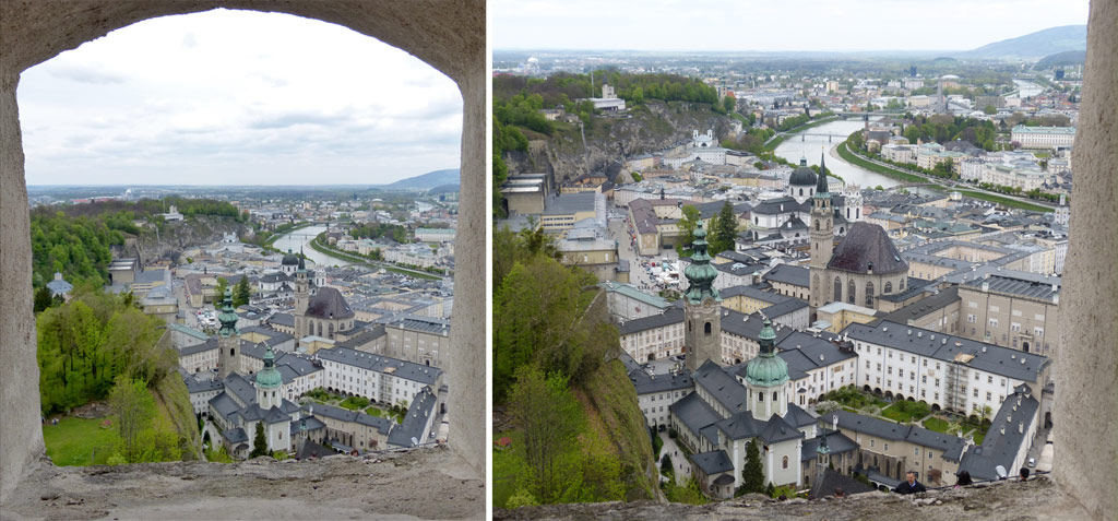Fensterblick auf Innenstadt Salzburg