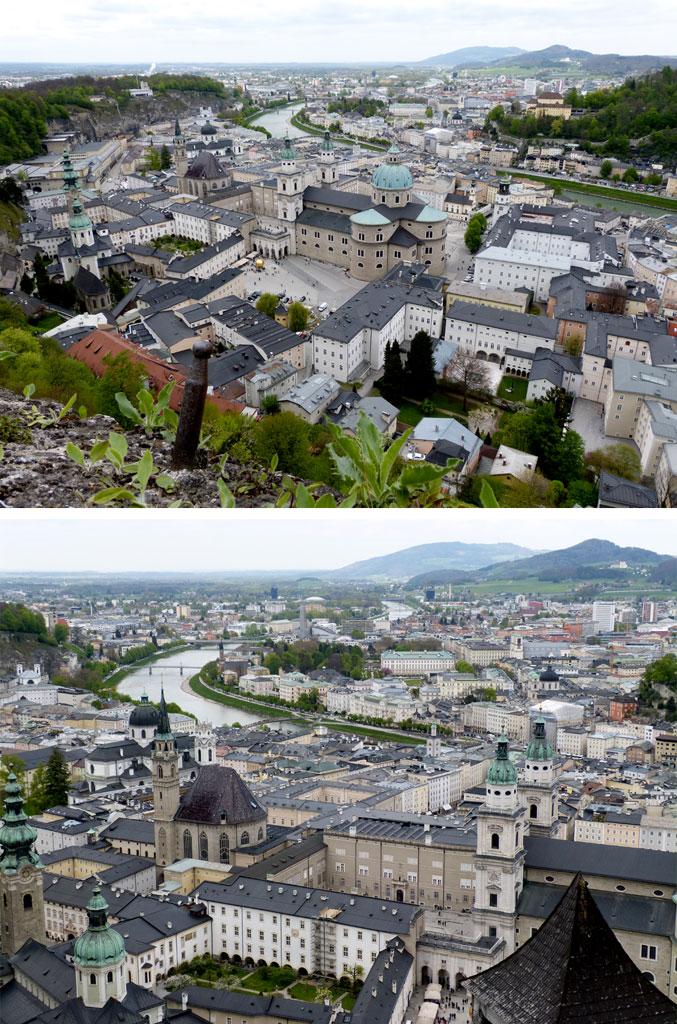 Innenstadt Salzburg Bird-eye-View