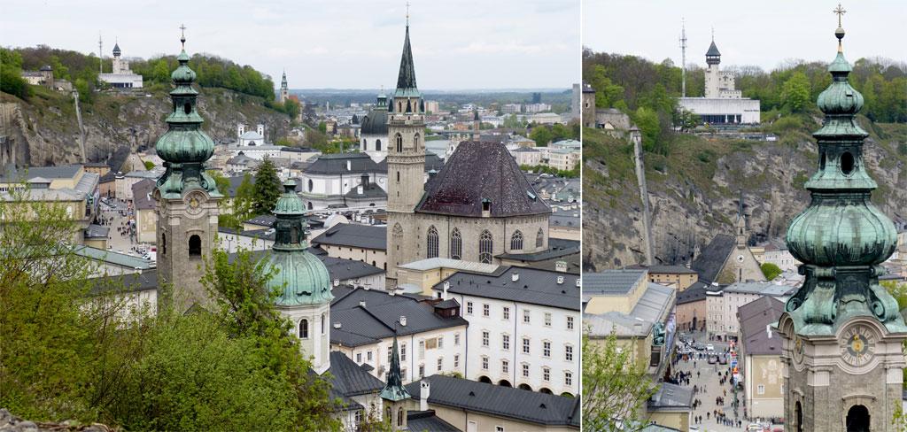 Kirchturm Häuser Salzburg