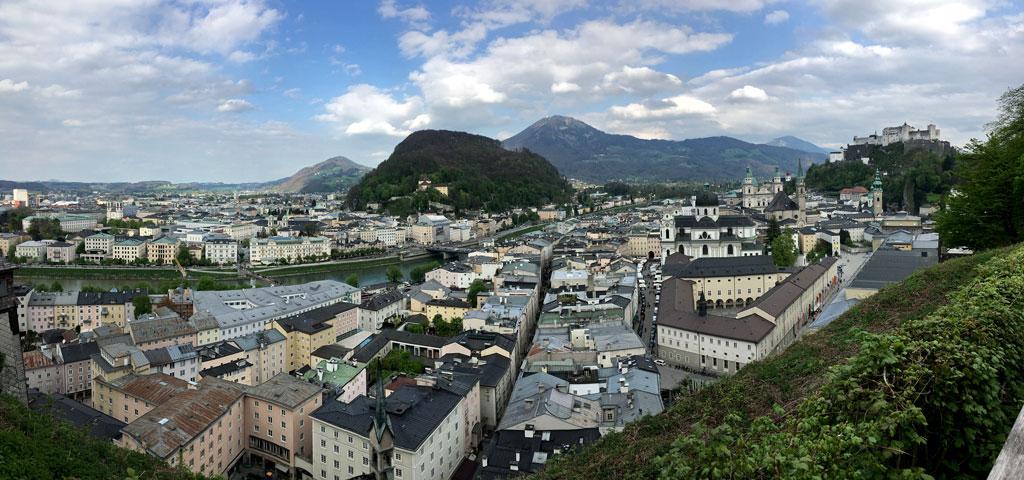 Panorama auf Salzburg