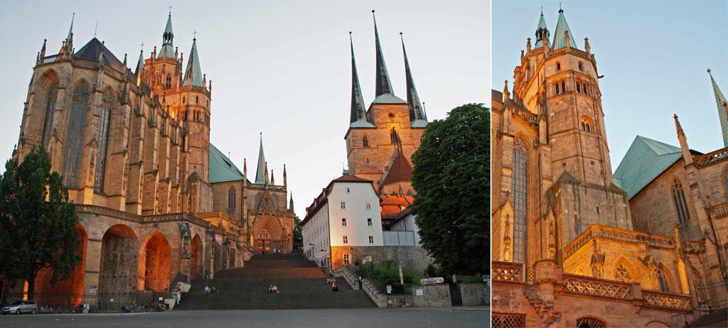 Dom Erfurt bei Nacht
