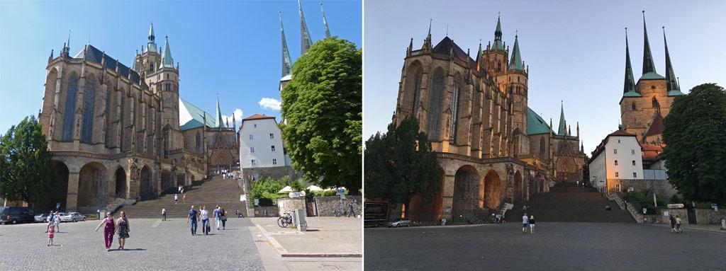 Erfurt Tipps Dom Tag Nacht