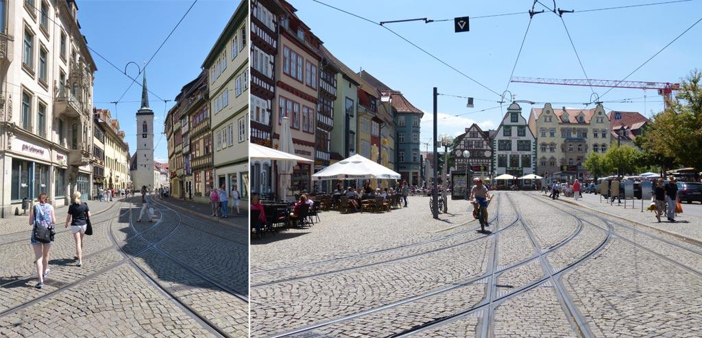 Straße Gleise Erfurt