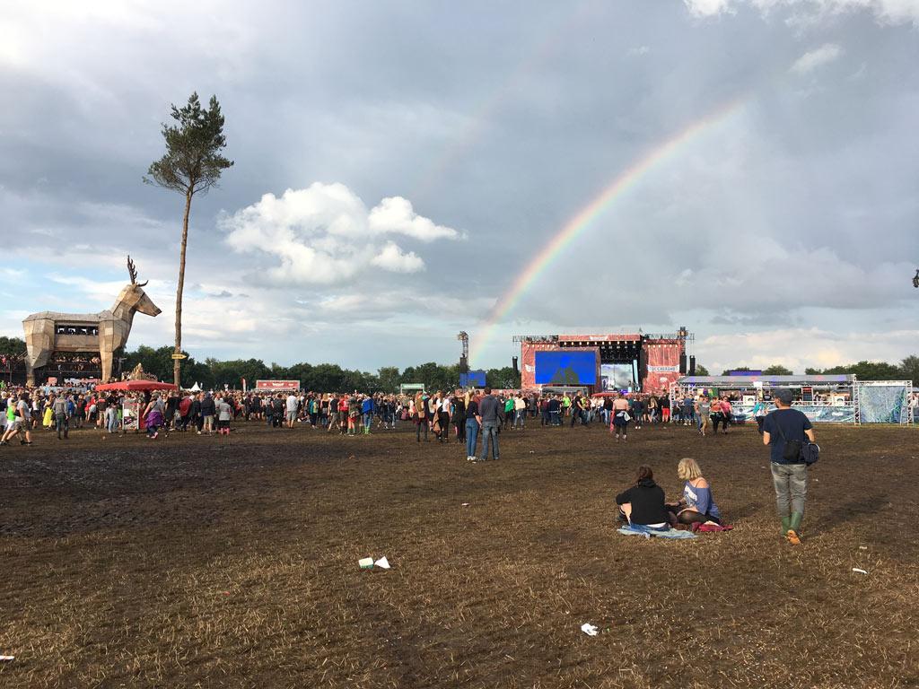 Festival Regenbogen Wiese