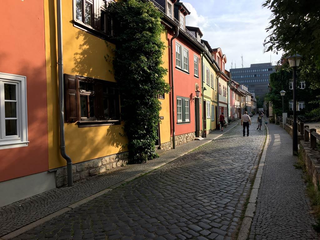 Haus Rot Gelb Grün Andreasviertel Erfurt