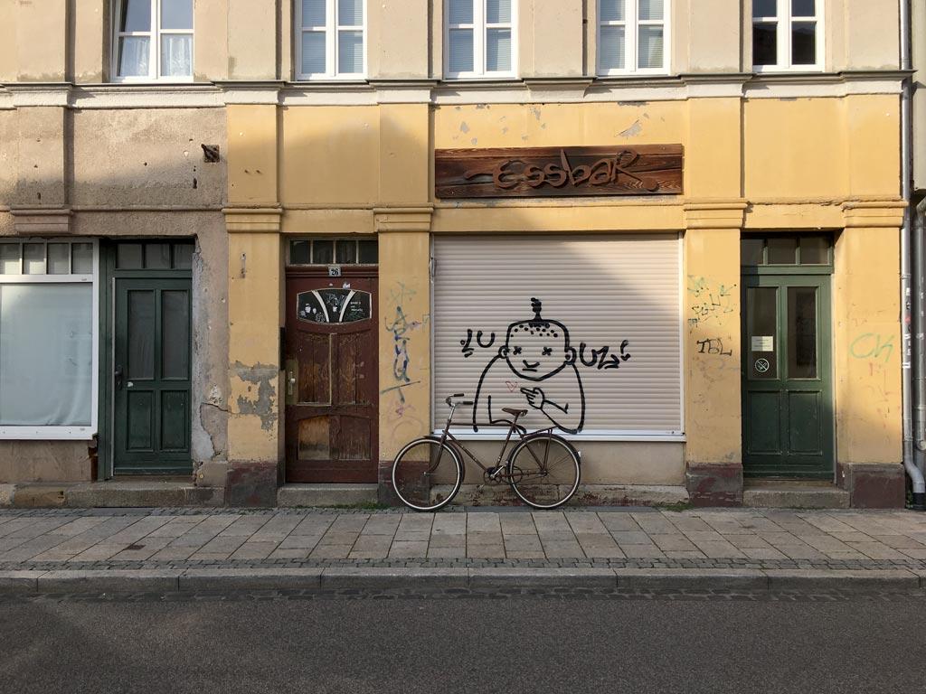Haus runtergekommen Erfurt Fahrrad