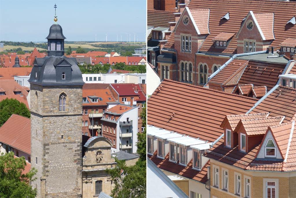 Kirchturm Dächer Erfurt