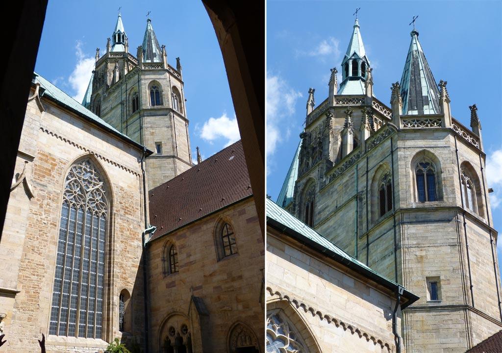 Kirchturm Fenster Dom Erfurt