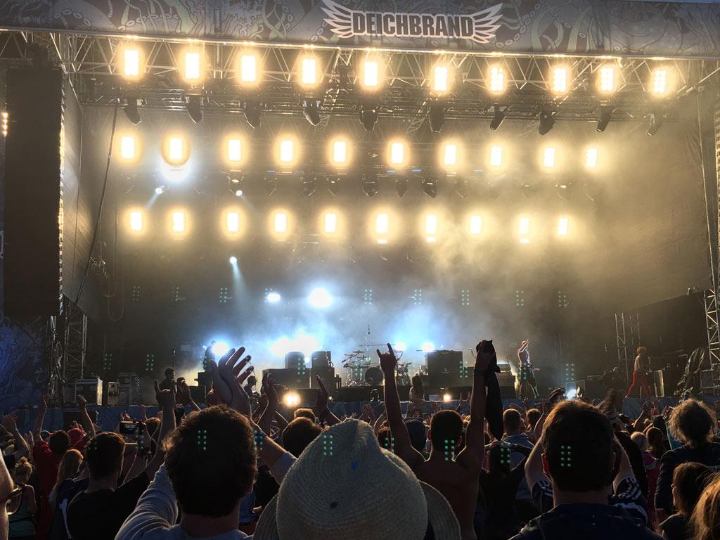 Konzert Menschen Bühne