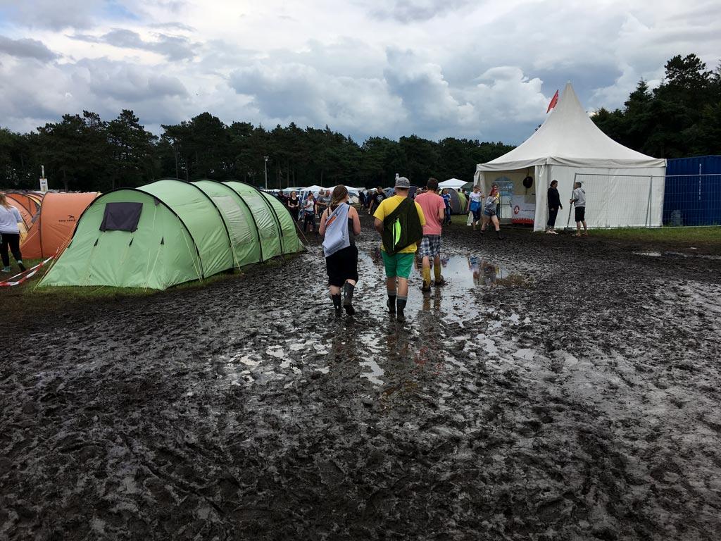 Matsch Weg Zelte Festival