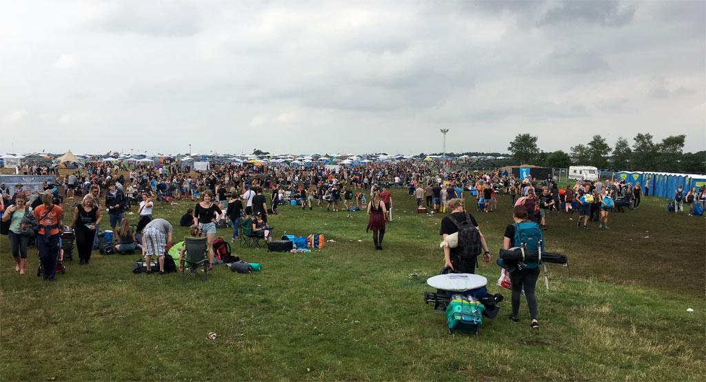 Menschen Festival Anreise
