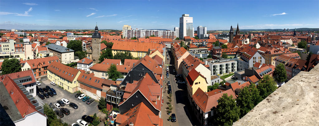 Panorama Erfurt Dächer