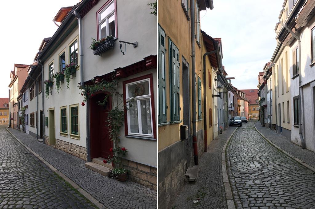 Straße eng Andreasviertel Erfurt