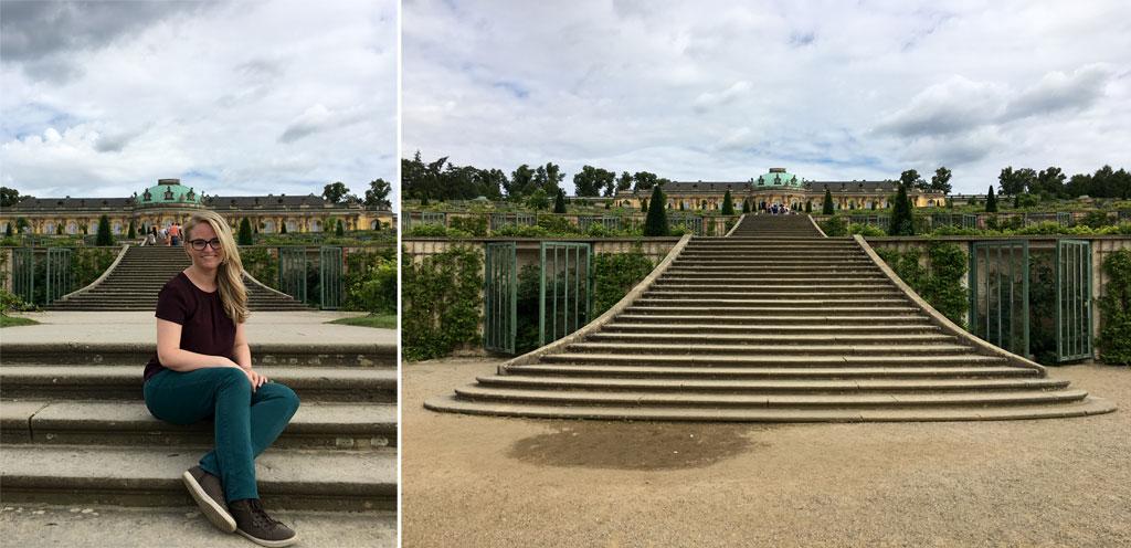 Frau Stufen Potsdam Schlosspark