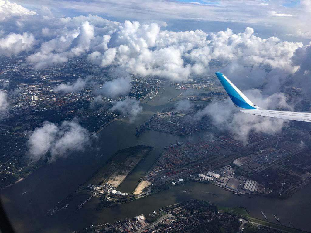 Hamburg Hafen von oben