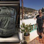 Reisen mit Handgepäck Frau Rucksack