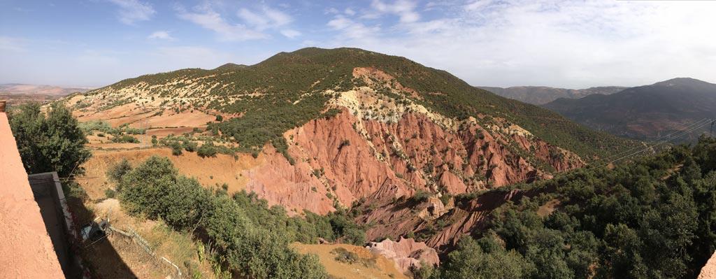 Atlas Gebirge grün rot