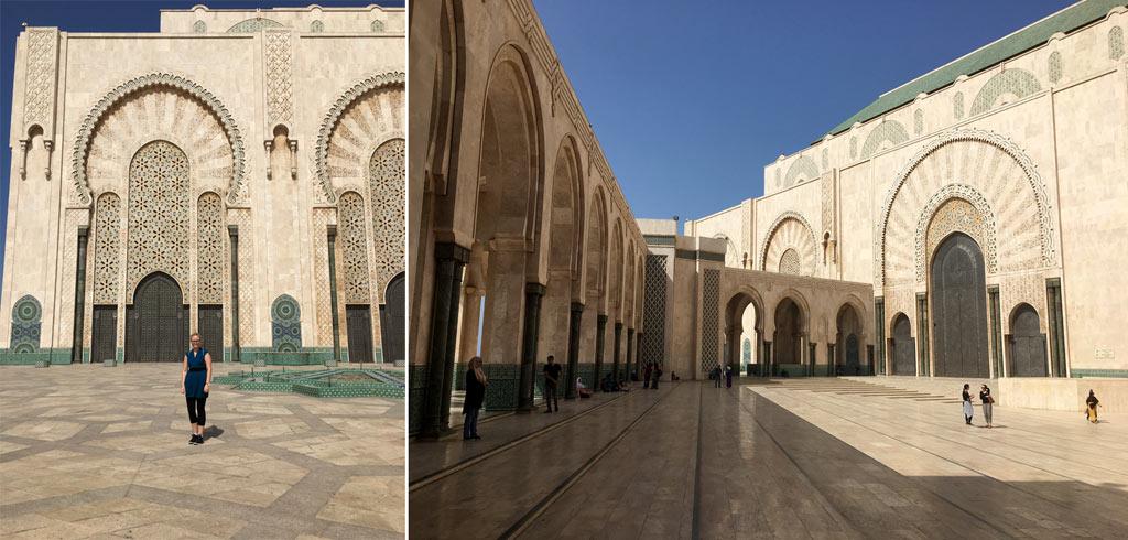 Frau Hassan Moschee Casablanca