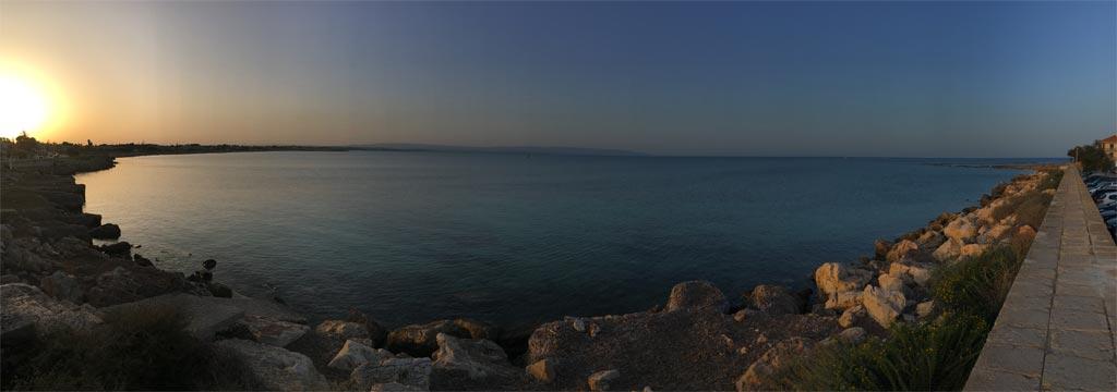 Meer Sonnenuntergang Panorama