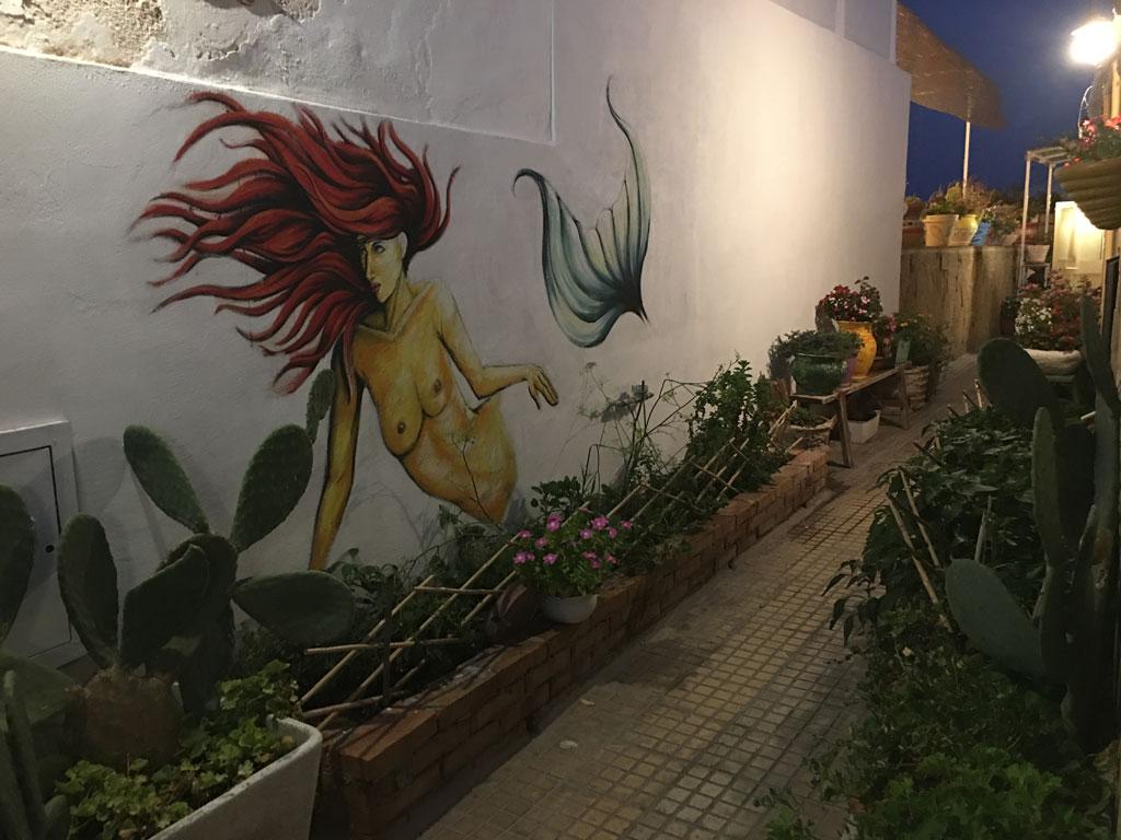 Meerjungfrau Gemälde Wand