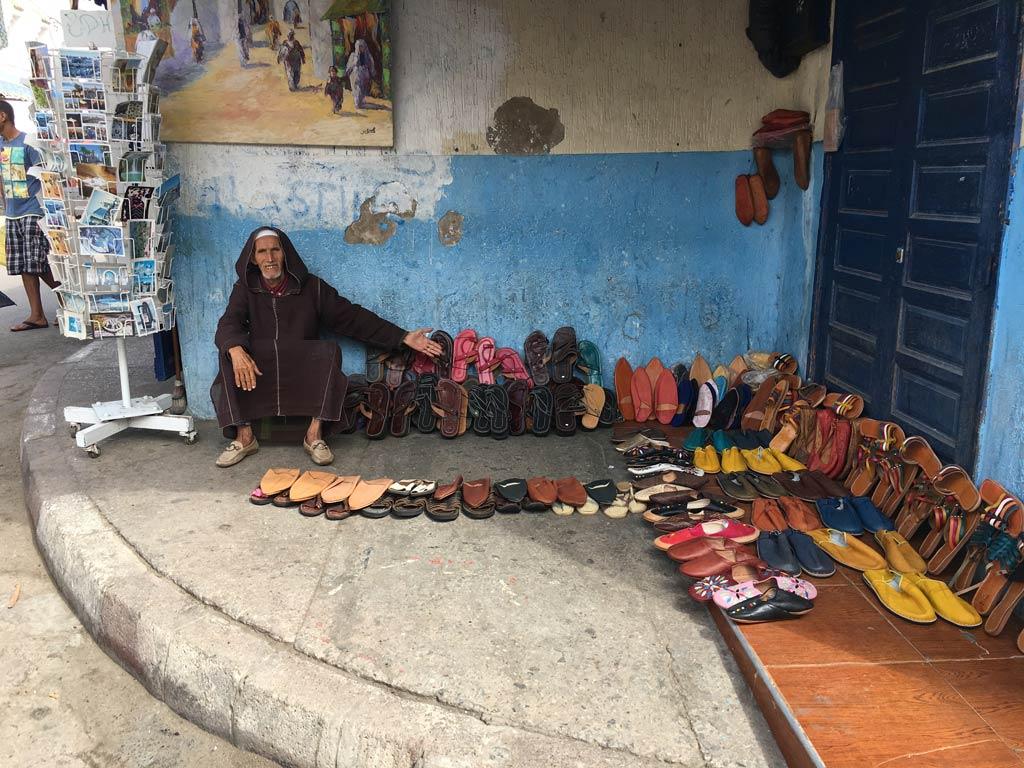 Rabat Schuhverkäufer