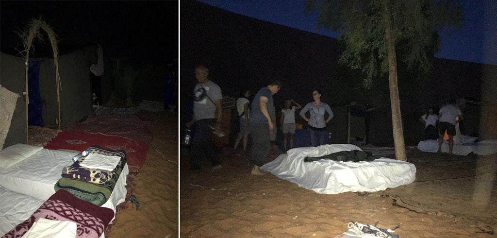 Sahara Wüste Camp Bett