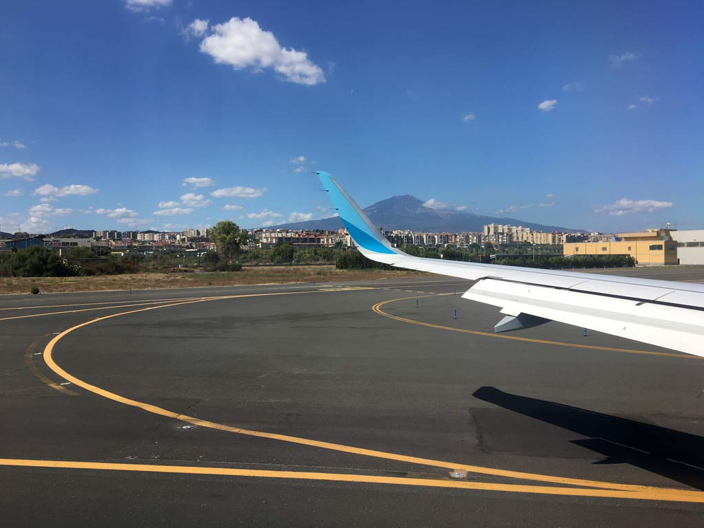 Flughafen Sizilien Catania Ätna