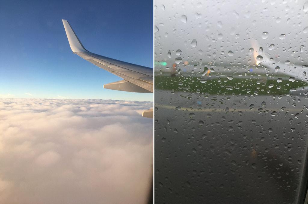 Flugzeug Ausblick aus Fenster